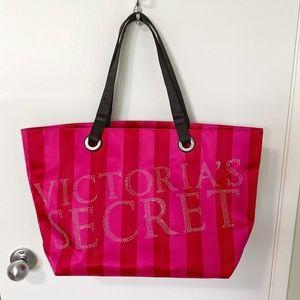 Victoria's Secret Pink Studded Weekender Tote Bag